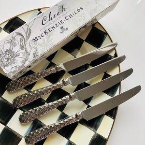 NWT MacKenzie-Childs 4-piece dessert knife set